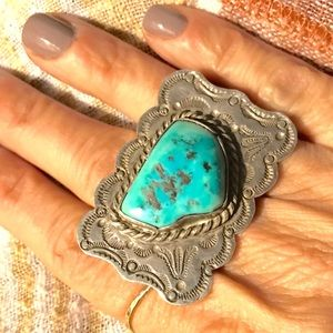 Unique Turquoise & Sterling Silver Ring